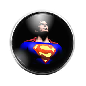 Superman- 18MM Glass Dome Candy Snap Charm GD1150