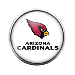 Arizona Cardinals - 18MM Glass Dome Candy Snap Charm GD0417