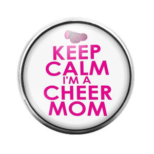 Calm Cheer Mom- 18MM Glass Dome Candy Snap Charm GD1132