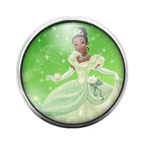 Princess Tiana- 18MM Glass Dome Candy Snap Charm GD1354