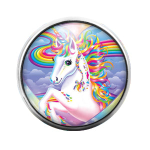 Lisa Frank - 18MM Glass Dome Candy Snap Charm GD0531