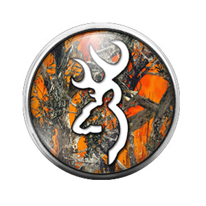 Browning Deer - 18MM Glass Dome Candy Snap Charm GD0435