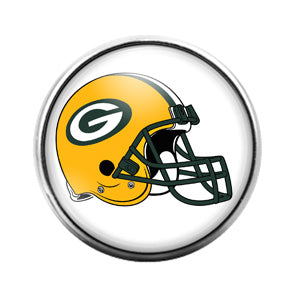 Greenbay Packers- 18MM Glass Dome Candy Snap Charm GD0923