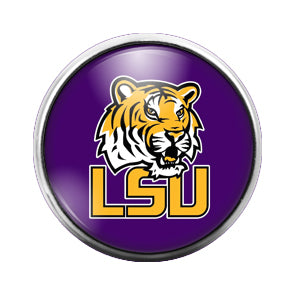 LSU- 18MM Glass Dome Candy Snap Charm GD0429