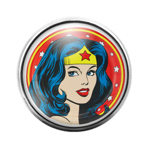 Wonder Woman - 18MM Glass Dome Candy Snap Charm GD0614