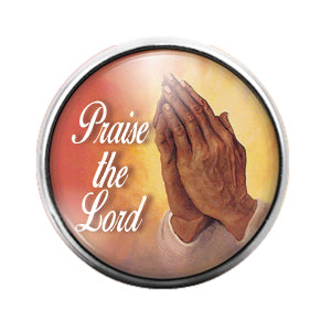Praise the Lord - 18MM Glass Dome Candy Snap Charm GD0688