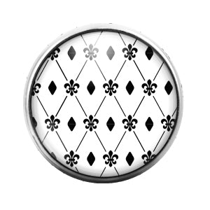 Pattern - 18MM Glass Dome Candy Snap Charm GD0547
