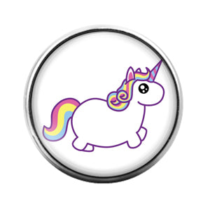 Unicorn- 18MM Glass Dome Candy Snap Charm GD0991