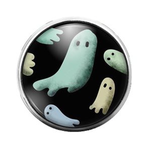 Ghosts - 18MM Glass Dome Candy Snap Charm GD0720