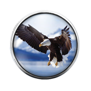 Eagle - 18MM Glass Dome Candy Snap Charm GD0683