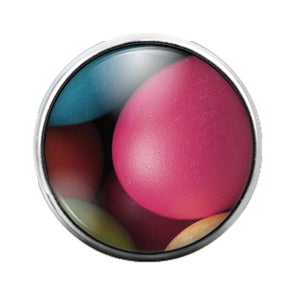 Easter Eggs - 18MM Glass Dome Candy Snap Charm GD0724