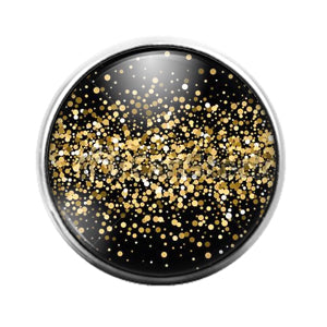 Glitter Pattern - 18MM Glass Dome Candy Snap Charm GD1496
