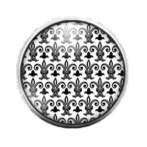 Pattern - 18MM Glass Dome Candy Snap Charm GD0548
