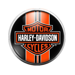Harley Davidson - 18MM Glass Dome Candy Snap Charm GD0450