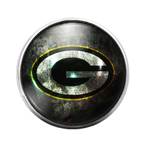 Greenbay Packers- 18MM Glass Dome Candy Snap Charm GD0924