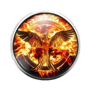 Hunger Games - 18MM Glass Dome Candy Snap Charm GD0385