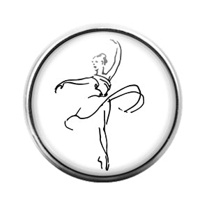 Dance Dancer- 18MM Glass Dome Candy Snap Charm GD1169