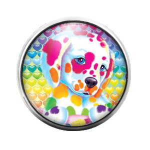 Lisa Frank - 18MM Glass Dome Candy Snap Charm GD0532
