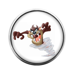 Tasmanian Devil- 18MM Glass Dome Candy Snap Charm GD1353