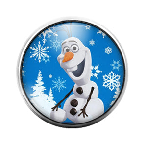 Frozen - 18MM Glass Dome Candy Snap Charm GD1256