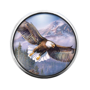 Eagle - 18MM Glass Dome Candy Snap Charm GD0684