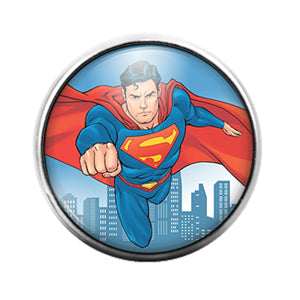 Superman- 18MM Glass Dome Candy Snap Charm GD1152