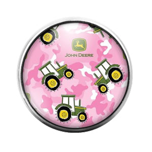 John Deere - 18MM Glass Dome Candy Snap Charm GD1427