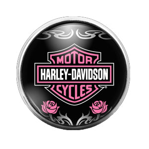 Harley Davidson - 18MM Glass Dome Candy Snap Charm GD0449