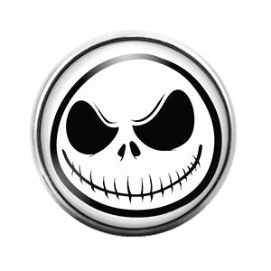Jack Skellington - 18MM Glass Dome Candy Snap Charm GD0617