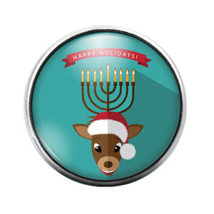 Hanukkah - 18MM Glass Dome Candy Snap Charm GD0928
