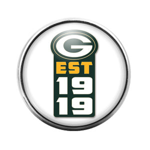 Greenbay Packers- 18MM Glass Dome Candy Snap Charm GD0925