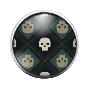 Halloween - 18MM Glass Dome Candy Snap Charm GD0493