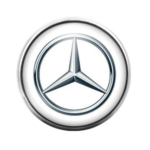 Mercedes Benz Car Logo - 18MM Glass Dome Candy Snap Charm GD0455