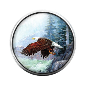 Eagle - 18MM Glass Dome Candy Snap Charm GD0685