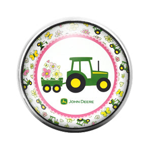 John Deere - 18MM Glass Dome Candy Snap Charm GD1428