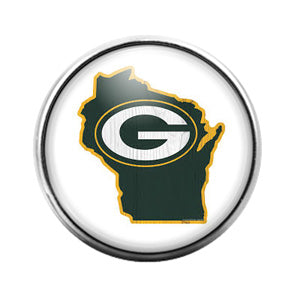 Greenbay Packers- 18MM Glass Dome Candy Snap Charm GD0926