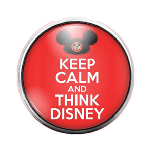 Think Disney - 18MM Glass Dome Candy Snap Charm GD0692