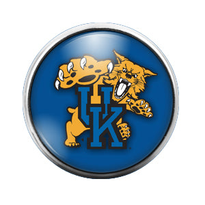 University of Kentucky - 18MM Glass Dome Candy Snap Charm GD0410