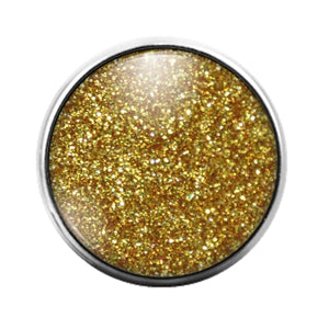 Glitter Pattern - 18MM Glass Dome Candy Snap Charm GD1498