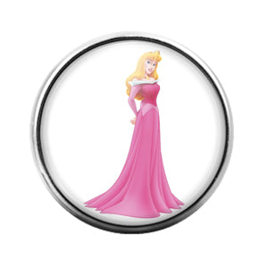 Aurora Princess- 18MM Glass Dome Candy Snap Charm GD1056