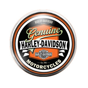 Harley Davidson - 18MM Glass Dome Candy Snap Charm GD0448