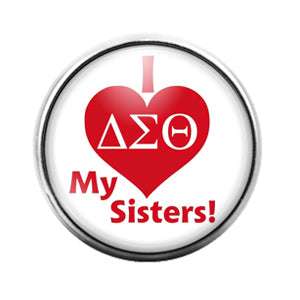 Delta Sigma Theta - 18MM Glass Dome Candy Snap Charm GD1378
