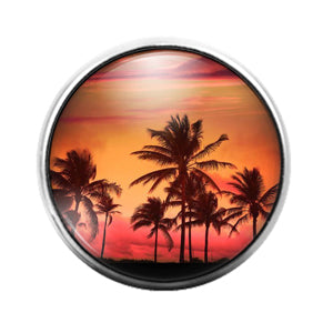 Palm Tree - 18MM Glass Dome Candy Snap Charm GD1391