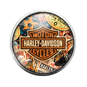 Harley Davidson - 18MM Glass Dome Candy Snap Charm GD0447