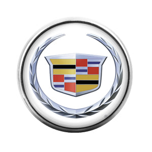 Cadillac Car Logo - 18MM Glass Dome Candy Snap Charm GD0445