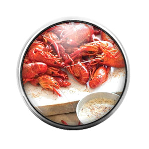 Crawfish Louisiana- 18MM Glass Dome Candy Snap Charm GD1215