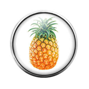 Pineapple Fruit - 18MM Glass Dome Candy Snap Charm GD1298