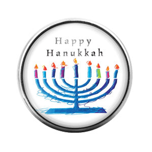 Hanukkah - 18MM Glass Dome Candy Snap Charm GD0930