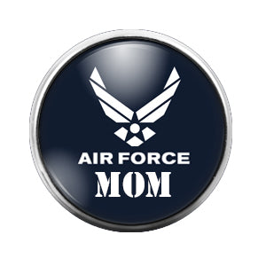 Air Force Mom - 18MM Glass Dome Candy Snap Charm GD0565