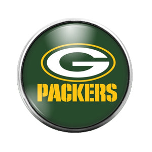 Greenbay Packers- 18MM Glass Dome Candy Snap Charm GD0933